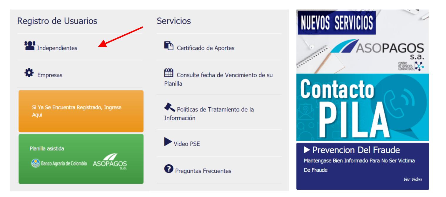 Registro en asopagos en colombia