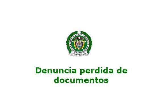 denuncia perdida de documentos